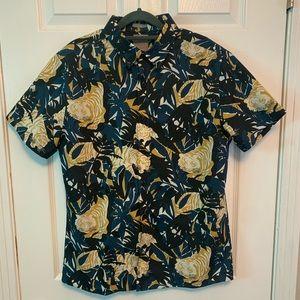 A-Frame button down collard short-sleeve shirt